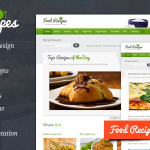 Foodrecipe wordpress theme