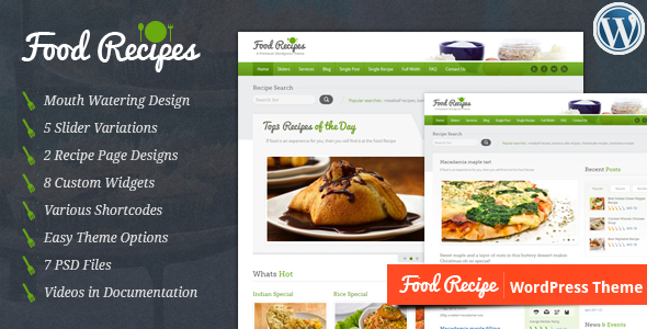 WordPress Food Recipe Theme – Best of 2014